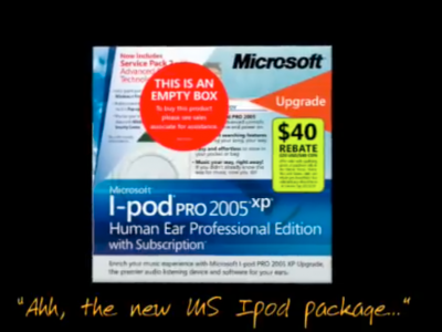 Microsoft Ipod redesigned concept packaging